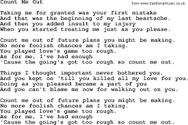 Count On Me Ukulele Tabs Pdf Count Me Out By Marty Robbins Lyrics