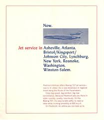 Piedmont Airlines Route Map by Piedmont Airlines