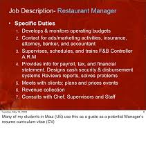 Restaurant General Manager Job Description Resume Basic Retail Resume Templates Esl Expository Essay Editor Services