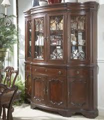 traditional china buffet u0026 hutch with glass doors and shelves by