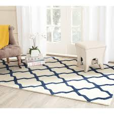 Navy And Beige Area Rugs Safavieh Cambridge Navy Blue Ivory 5 Ft X 8 Ft Area Rug Cam123g