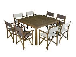 salon jardin 8 personnes salon de jardin 8 places 1 table carré en acacia fsc 8