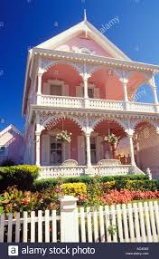 the pink house cape may new jersey stock photo royalty free image