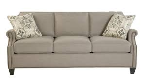 Transitional Sofas Furniture Transitional Sofa With Clipped Corner Shape And Nailhead Trim By