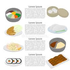 id d o cuisine set of and food flat design elements