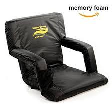 amazon com memory foam extra wide stadium bleacher seats w back