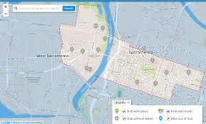 Capital Bike Share Map Almost Bike Share Getting Around Sacramento