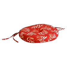 outdoor round seat pad dining bistro cushion red tan floral target