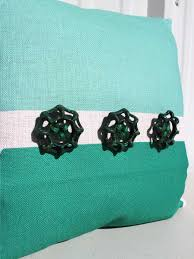 color block throw pillow in mint green redinfred