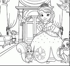 beautiful disney princess coloring pages with princess sofia