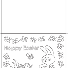 free easter colouring pages organised housewife easter card