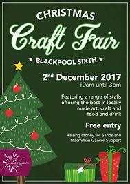 christmas craft fair 2017 the blackpool sixth form college