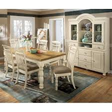 cottage dining table set cottage retreat extension dining room set signature design by ashley