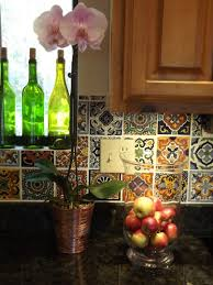 Tiles Backsplash Kitchen Kitchen Dusty Coyote Mexican Tile Kitchen Backsplash Diy Ideas For