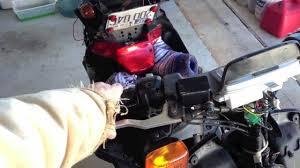 yamaha zuma 50cc brake signal lights electrical problem youtube