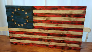 Betsy Ross Flags Wood Flag 13 Star Flag Wooden Flag American Wood Flag
