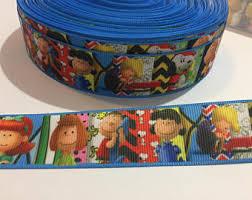 snoopy ribbon peanuts ribbon etsy
