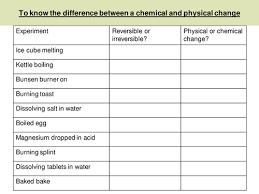 introducing chemical and physical changes by lrcathcart teaching