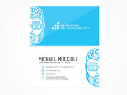 Standard Business Card Format Commonvision Business Card By Michael Muccioli Dribbble