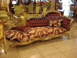Antique Chaise Lounge French Style Gold Foil Antique Chaise Lounge View European Style
