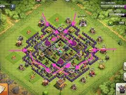 big clash of clans base control your attackers with trap funneling in clash of clans