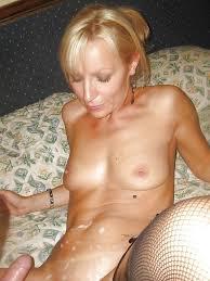Naughty Busty Cougar Eats Cock