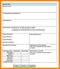 project charter template art resumes