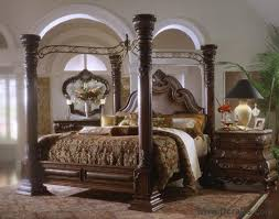 Luxury Bedroom Sets Furniture by Canopy Bedroom Sets For Sale On Margaux Cabernet King Canopy