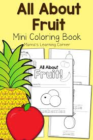 fruit coloring pages mamas learning corner