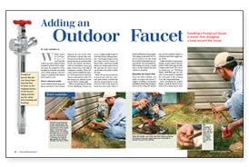 Replacing Outside Water Faucet Install An Outdoor Faucet 100 Images Plumbing Outside The Box