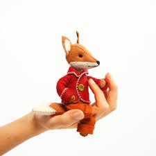 felix fox kit felt fox ornament felt animal craft kit fox
