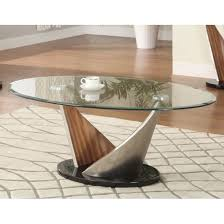 Walnut And Glass Coffee Table Florence Glass Coffee Table With Walnut Satin Base