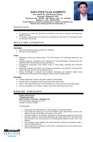 Sample Ng Resume by Show Sample Resume Resume Cv Cover Letter Joyous Ojt Resume 9 Ojt