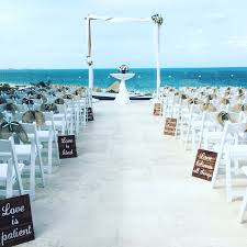 a ceremony setup at paramount suite at dreams playa