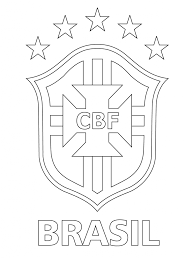 logo of brazilian football confederation printable coloring pages