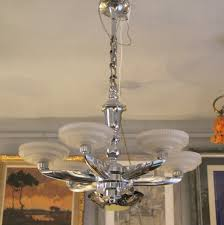 Art Deco Chandeliers For Sale Large French Art Deco Lamp By Henry Petitot For Atelier Petitot