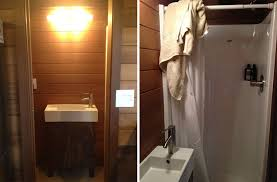 bathroom in a box live a big life in a tiny house on wheels