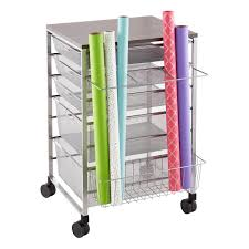 gift wrap cart platinum elfa gift wrap organizer the container store