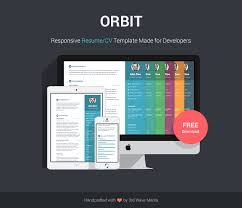 Online Free Resume by Free Bootstrap Resume Cv Template For Developers Orbit