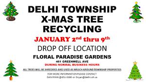 christmas tree recycling u2013 delhi township