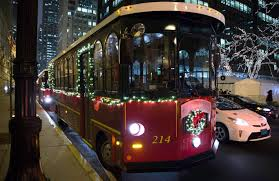 Chicago Trolley Tour Map by Chicago Holiday Lights Tour U0026 Holiday Lights Trolley Chicago