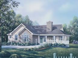 Ranch Floor Plans With Front Porch Brick Ranch Home Plans With Country Porch Deer Ridge Traditional