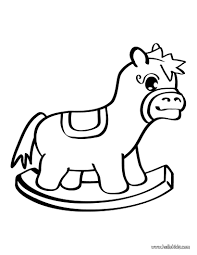 horse toy coloring pages hellokids com