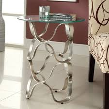 Glass End Tables Glass End Tables Home Silver Side Table Robinsuites Co