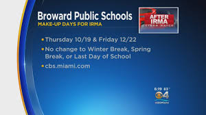 makeup schools miami broward county school board unanimously approves hurricane irma