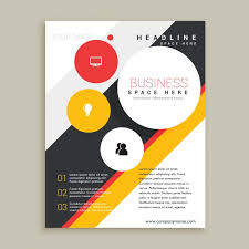 creative brochure template vector free