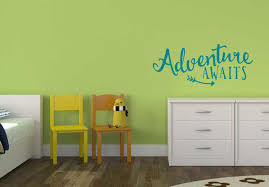 adventure awaits vinyl wall decals saying stickers with arrow art loading zoom