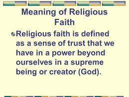 faith and religion faith beliefs held in your mind a gift from