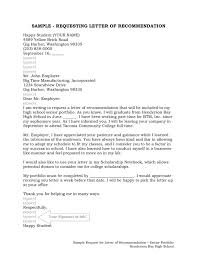 recommendation letter request sample free excel templates