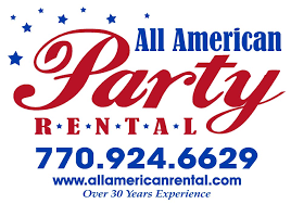 party rentals ta all american party rental home